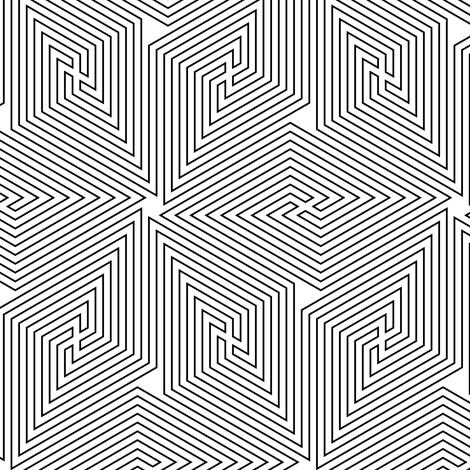 02723926 : greek cube 4i fabric by sef on Spoonflower - custom fabric