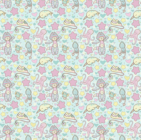 Wallpaper. Gift Wrap. Rrrrfairy_kei_fabric_wrap_shop_preview. Fairy Kei  Land - Small Print fabric by lithe-fider on Spoonflower - custom fabric