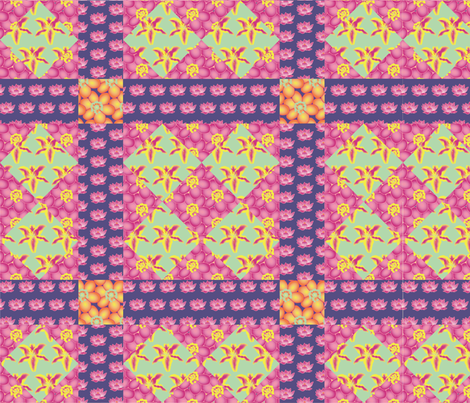 Garden_of_Eden_Cheater_Quilt fabric by relk on Spoonflower - custom fabric