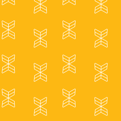 Aztec arrowheads in Mustard fabric by daniellereneefalk on Spoonflower - custom fabric