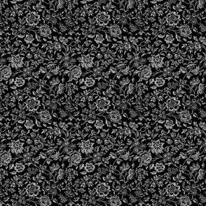 William Morris Ditsy ~ Black and White