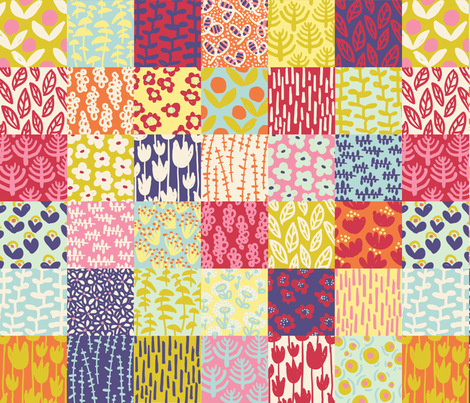 MQG // Modern Quilt Garden fabric by sammyk on Spoonflower - custom fabric