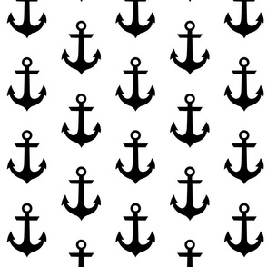 anchor - Black on white