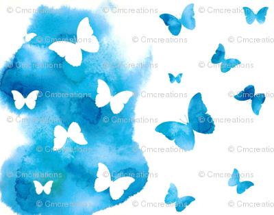 Butterfly Kaleidoscope - Turquoise
