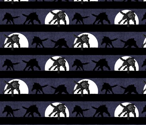 steampunk wolf running stripe midnight thunder fabric by glimmericks on Spoonflower - custom fabric