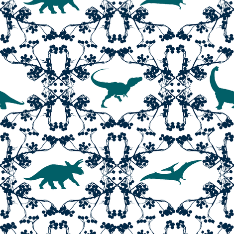 Nasreen's Dino Lace fabric by wednesdaysgirl on Spoonflower - custom fabric