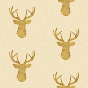 Deer Silhouette in Gold Dust