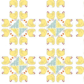 Mandala Fluffy Hen Patchwork