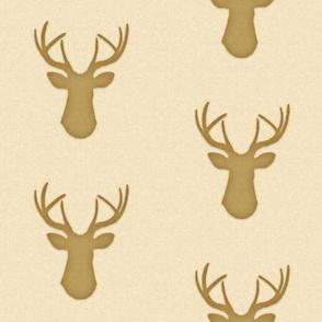Deer Silhouette in Linen