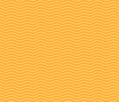 Tangerine Waves (Juicy fruit series) fabric by kittenstitches on Spoonflower - custom fabric