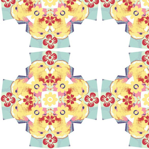 quilt chick floral cross