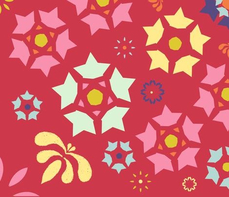 swiss inspired fabric by cornie on Spoonflower - custom fabric