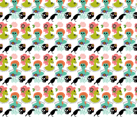 victorian skulls 1 fabric by skellychic on Spoonflower - custom fabric