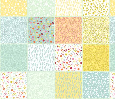 Spring tulips fabric by dariara on Spoonflower - custom fabric