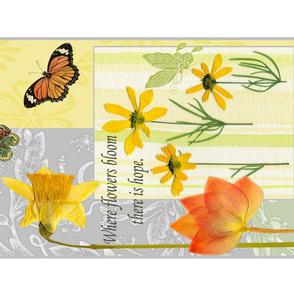 Tulips and Daffodils Tea Towel