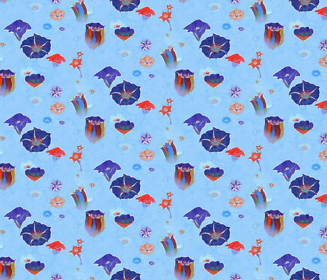 Watercolor nightshades fabric by nlsd on Spoonflower - custom fabric