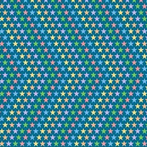 Stars & Stripes to the Max (Blue) || pop art 80s retro rainbow chevron geometric superstar children kids baby nursery
