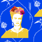 Ode to Frida Kahlo (Mexican blue)