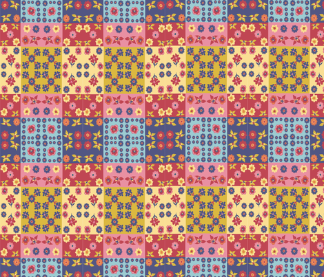 Caroles_Floral_Quilt_Mini fabric by scifiwritir on Spoonflower - custom fabric