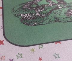 Bohemian Dinosaur |  Vintage T-Rex Dinosaur Skull on Green, Rainbow Starfield on White, Cheater Quilt Blocks
