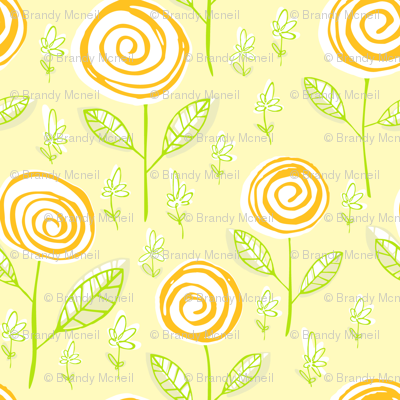Lemony swirl blossoms (floral candy)