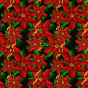 Poinsettias on Dark, gift wrap