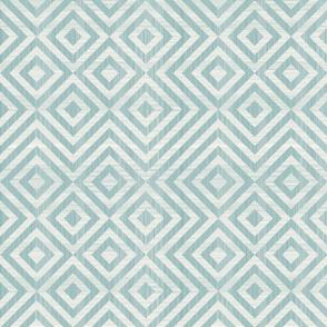 Escher diamonds (dusty blues)