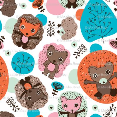 Cuteness nursery hedgehog illustration pattern