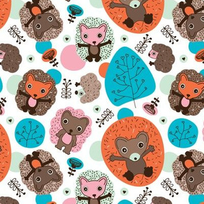 Cuteness nursery hedgehog illustration pattern