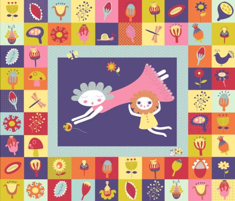 spring flowers fabric by birdonherhead on Spoonflower - custom fabric