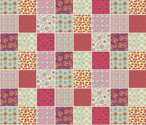 Cheater Quilt fabric by linsart on Spoonflower - custom fabric