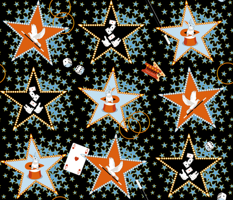 Magic Show fabric by vannina on Spoonflower - custom fabric