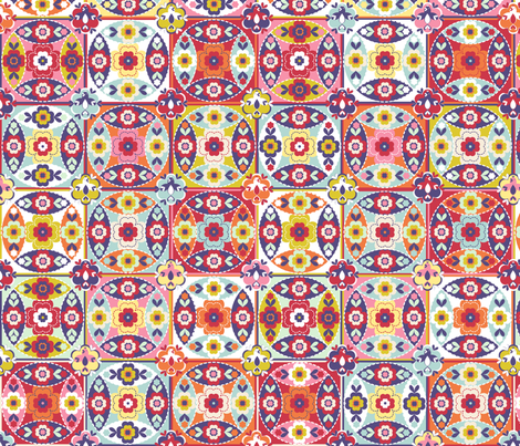 Spring Bloom fabric by paula's_designs on Spoonflower - custom fabric