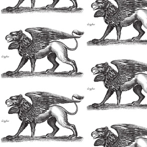 Griffin Engraving Black and White