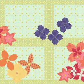 Flower Basket and Butterflies