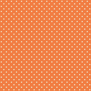 Spring_Cheater Quilt Orange___White_Polka_Dots