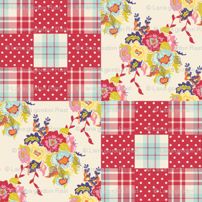 Spring Cheater Quilt Block 2