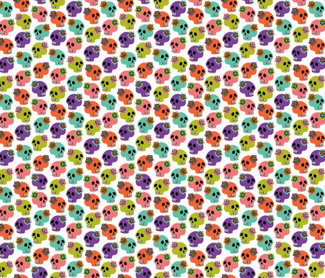 victorian skulls 3 fabric by skellychic on Spoonflower - custom fabric
