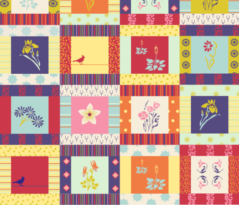 cheat_patchwork_tile3 fabric by fernery on Spoonflower - custom fabric
