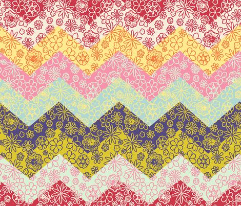 Chevron Cheater Quilt fabric by mypetalpress on Spoonflower - custom fabric