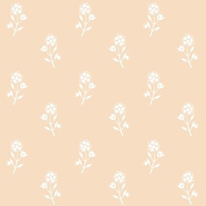 Regency Floral on Peach Cream