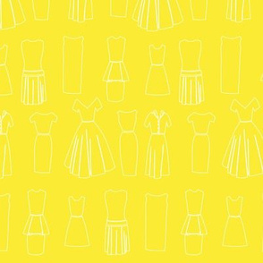 Vintage Dressmaker Fabric, Yellow