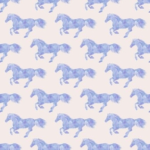 Watercolor Pony Periwinkle on Vanilla