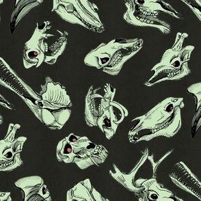 skullpaterngreen