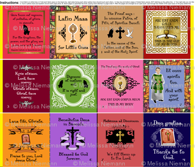 Latin Mass for Little Ones cloth book quiet book for Little Ones