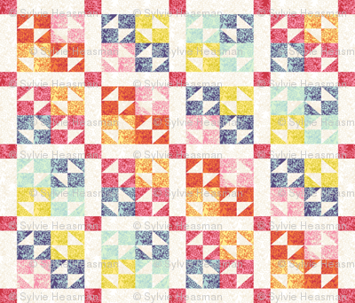 Rainbows of Spring  Cheater_Quilt