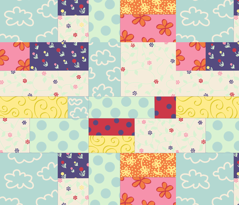 Spring Doodle fabric by sugarpinedesign on Spoonflower - custom fabric