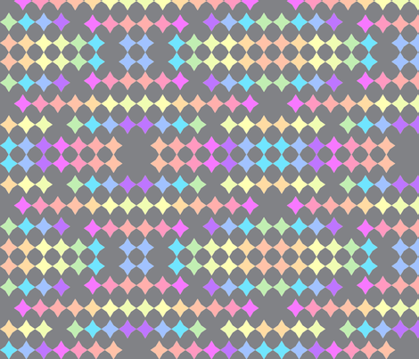 Rainbow stars-grey fabric by daniellereneefalk on Spoonflower - custom fabric