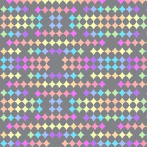 Rainbow stars-grey