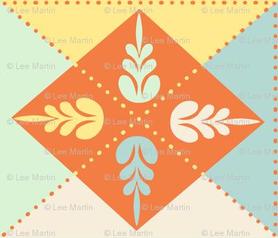 Spring Floral Quilt Block